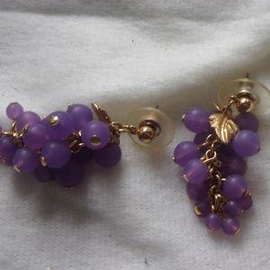 Jewelry - Pierced Grapes earrings Wine lover earrings